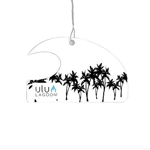 Ulu Lagoon Coconut Surf Wax Scent Mini Wave Air Freshener (Black Palms)