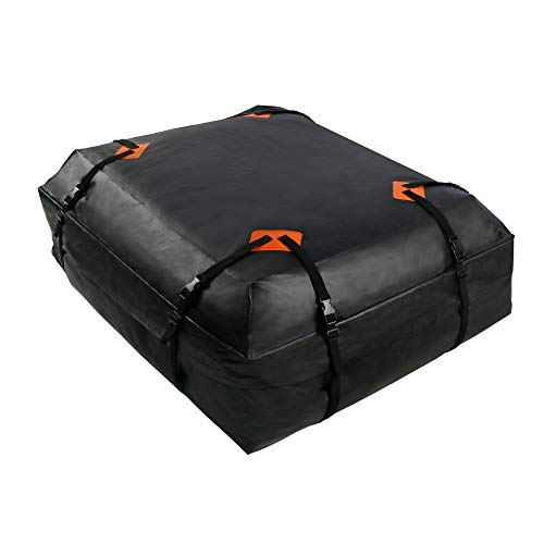 Best Goods Auto Dachbox Faltbare Dachtasche Wasserdicht Auto Car Roof Bag Extrem Starke Autodachtasche und wasserdichte Packtasche 425 Liter 600D PVC Oxford Stoff