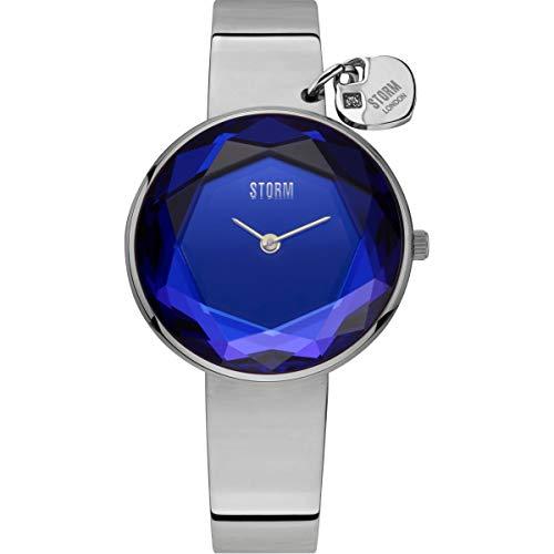 STORM London Alya Lazer Blue, Damenuhr, Analoguhr, 5 bar Wasserdicht, Mineralglas, Prismaglasschliff, Edelstahlgehäuse, 47436/LB