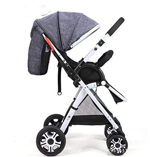 Lichtgewicht twee-weg wandelwagen Opvouwbare paraplu kan Lie Super Licht en Draagbaar gray and white