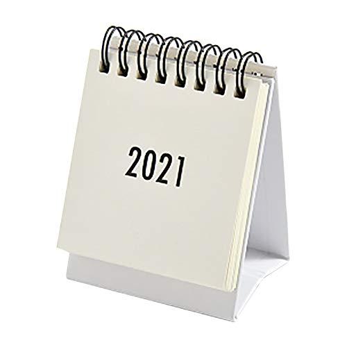 Calendario de Escritorio pequeño 2021 s imple Color sólido Libro de Planes Mini Calendario decoración, día de San Valentín Cocina, Comedor y Bar