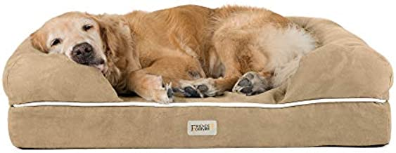 Friends Forever Premium Orthopedic Memory Foam Dog Bed Extra Large | Sofa Bed Lounge Bolster Pet Beds with 100% Suede Removable Cover 4