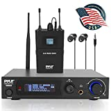 in-Ear Wireless Monitor and Receiver System- UHF Selectable Audio Frequency Kit, Adjustable TNC Antenna for Extended Range, and IEM Beltpack Transmitter with Selectable Audio Frequency- Pyle PDWMN49