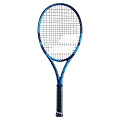 Babolat Pure Drive 2021 Tennis Racquet Perfect combination of power, speed, and spin. Graphite composition delivers a pure, consistent feel. Great for baseliners looking for extra spin on their penetrating shots. Head Size: 100 sq. in.; Length: 27 in...