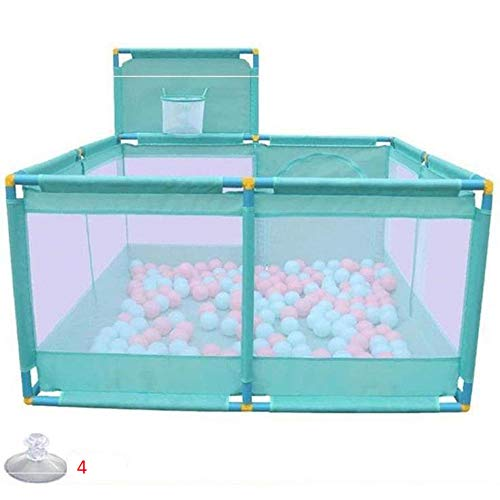 unknow 32 sq ft Blue Ball Pool with Breathable Mesh,4 Panel Travel Cot Playpen for Babies Toddler Game Area Child Play Game Fence