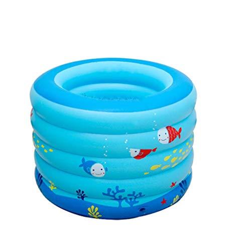 Ronda de Piscina, Ducha Cubo del bebé Burbuja Inferior Diseño Piscina for niños Bañera Espesado Piscina (Tamaño: 95 * 70 cm) WTZ012 (Size : 106 * 75cm)