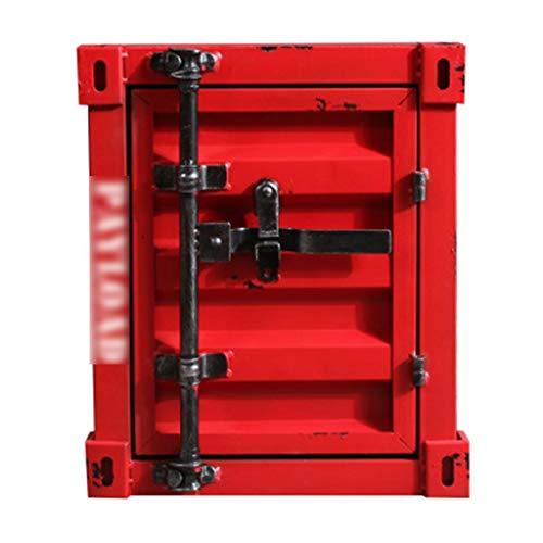 Veiligheid van de kluizen, retro box ijzeren kast kast vitrine - rood -40X38X48cm verzekering doos Safebox