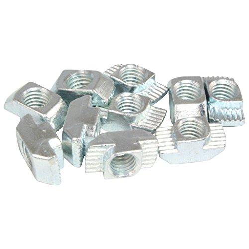 100x Hammermutter Nut 10 - Typ B - M8 Steg 3,0 mm, Stahl verzinkt