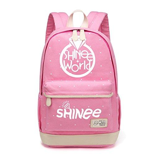JUSTGOGO KPOP Shinee Rucksack Daypack Laptop Tasche College Bag Book Bag Schultasche