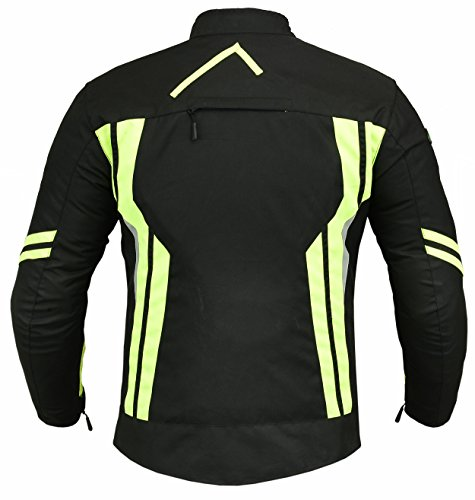 RIDEX Hochsichtbare wasserdichte Motorrad Jacke Herren Schutz Größe L Schwarz/Gelb – schwarz / gelb - 2