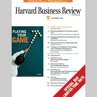 Harvard Business Review, December 2005 copertina