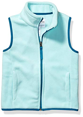 Amazon Essentials Polar fleece-outerwear-vests, aqua, Medium