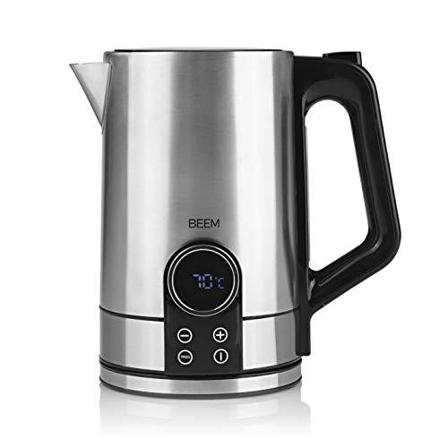 BEEM TEA-SWITCH Wasserkocher mit Temperatureinstellung - 1,7 l | Teekocher elektrisch | 2200 W | Edelstahl | Temperatureinstellung 40°C -100 °C