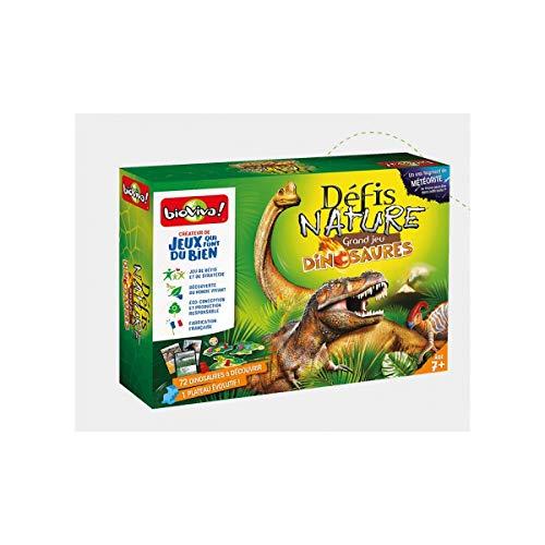Bioviva- Défis Nature Grand Jeu Dinosaures, 201056, Multicolor