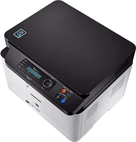 Samsung Xpress SL-C480W Laser 18 - Impresora multifunción (Laser, Impresión a Color, 2400 x 600 dpi, 150 Hojas, A4, WiFi, Negro, Blanco)