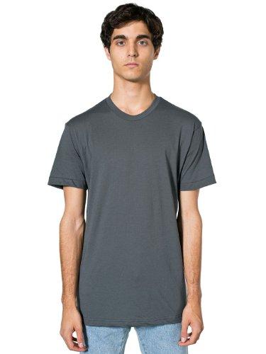 American Apparel Poly-Cotton Short Sleeve Crew Neck, Asphalt, X-Large