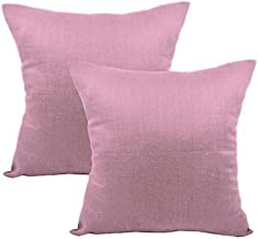 AVI Set of 2 Microfiber Cushion with Cushion Cover(20x20) Pink