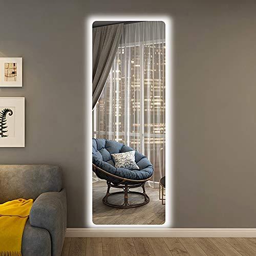 Mirror Spiegel LED-Lichtspiegel Kosmetikspiegel Wandspiegel Ganzkörperspiegel rahmenloser Einbauspiegel Bekleidungsgeschäftspiegel mit Licht HD-Spiegel Touch-Schalter Spiegel Kosmetikspiegel