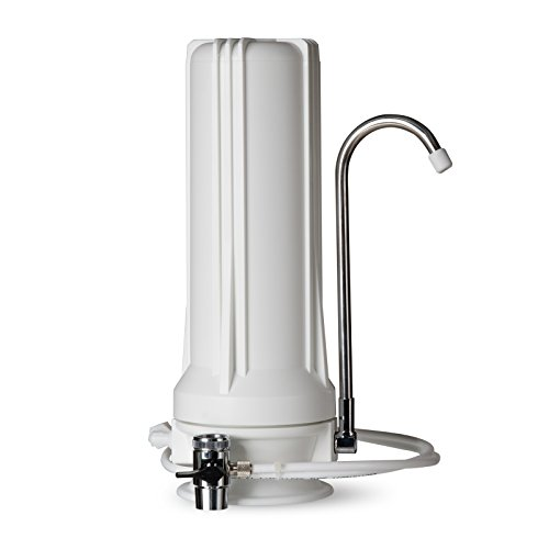 iSpring CT10-W countertop water filter system, White with Multi Stage Cartridge