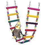 ASOCEA Échelles de perroquet d'oiseau Jouets suspendus Jouets d'escalade de pont pivotant pour animaux de compagnie Accessoires de cage de hamac debout pour les petits oiseaux de taille moyenne