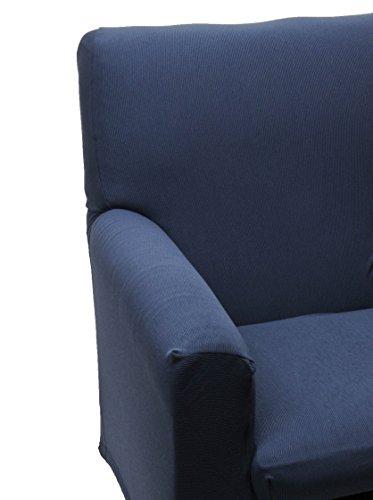 Happidea F3111101411030000 M11 Copridivano, Poliestere-Cotone, Blue, 38x19x31.5 cm