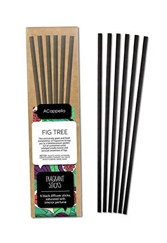 ACappella Pre-Fragranced difusor de lámina Sticks Refill Higuera - Perfume de Habitaciones Sticks Gift Set sin Soporte - No Hay líquido Necesario - 3 x 6 Piezas (Pack de 3)