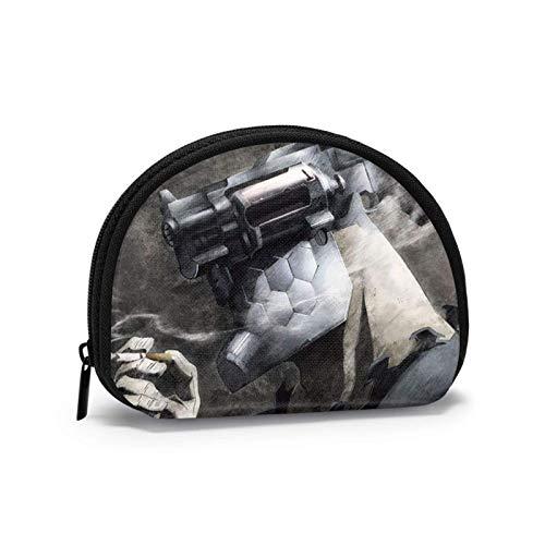 No Guns Life Bolsa de almacenamiento linda y personalizada, cartera en forma de concha, monedero pequeño