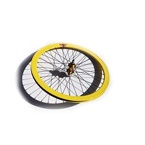 Riscko 004M Rueda Trasera Bicicleta Personalizada Fixie Talla M Amarillo