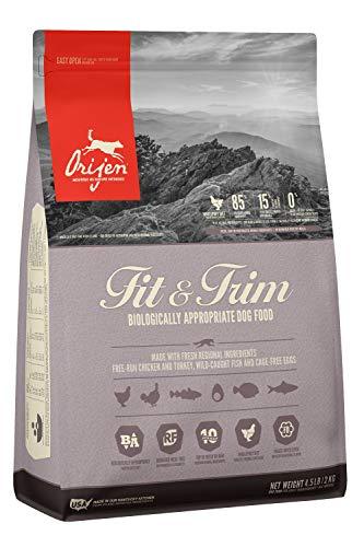 ORIJEN Fit & Trim Dog Food, Healthy Weight Recipe, Grain Free, Fresh & Raw Animal Ingredients, 4lb