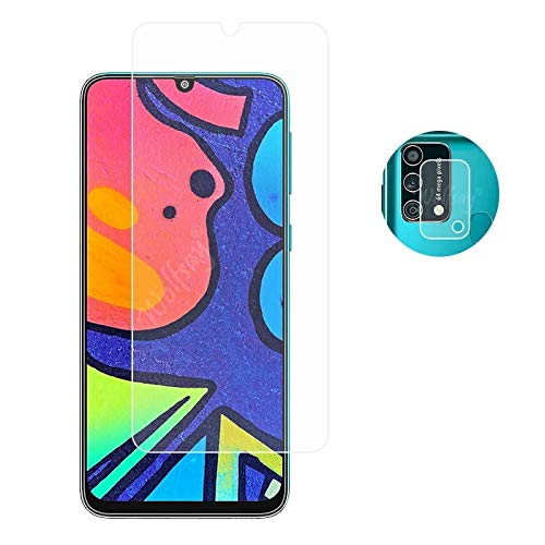 Emunks Tempered Glass Protector 9H Flexible and Camers Lens Combo, HD Screen Protector Nondestructive Quality,The Screen Guard, for Samsung F41 (Pack of 1)
