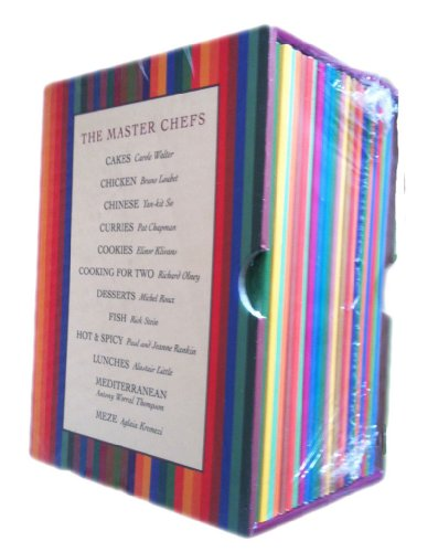 The Master Chefs box set 24 cook booklets (Cakes / Chicken / Chinese / Curries / Cookies / Cooking for Two / Deserts / Fish / Hot and Spicy / Lunches / Mediterranean / Meze rrp £24.00)