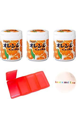 マルカワ ガム マーブルガム ボトルガムセット (オレンジ味×3)