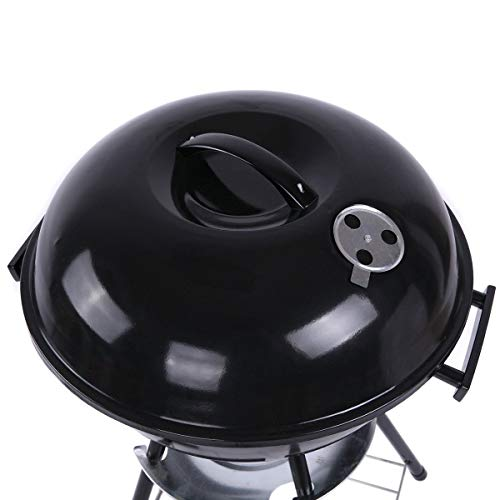 41v0mHLurxL - WZHZJ Metall-Holzkohle BBQ Grill Pit Outdoor-Camping-Kocher Garten Grill Werkzeuge Grillzubehör Kochen Werkzeuge Küchen