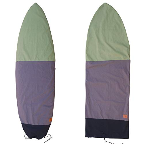 "Ho Stevie! Canvas Surfboard Bag Cover [Choose Size & Color] (Black/Gray/Green, 6'0"")"