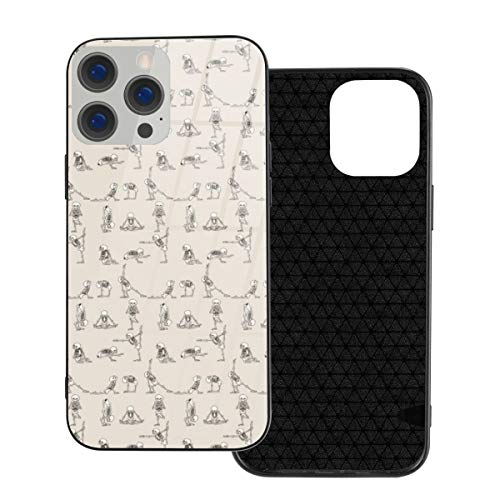 Funda de protección compatible con iPhone 12 / iPhone 12 Pro Case Skeleton Yoga Phone Cases/Cover Carcasa de vidrio templado