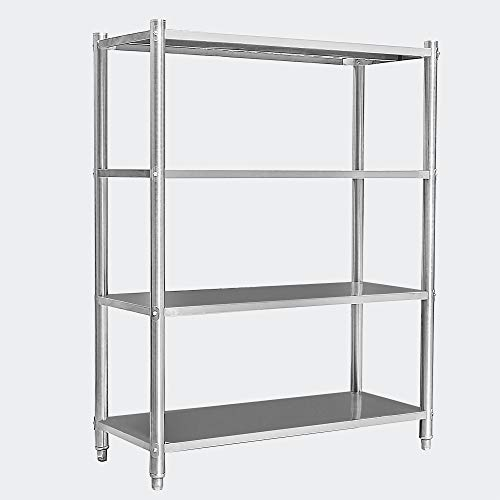Estantería acero inoxidable almacenaje profesional gastronomía cargas pesadas taller 120x50x155cm