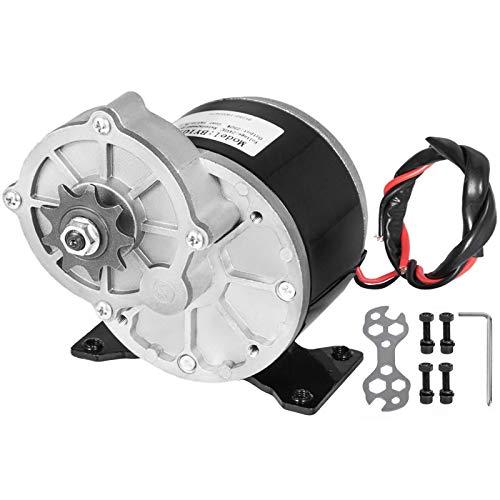 VEVOR Motore Elettrico di Riduzione dell'ingranaggio da 24 Volt 250 Watt con 9 Rapporti del Pignone: 9,7: 1 Velocità Nominale: 2700 giri/min