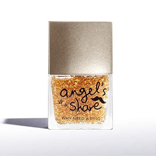 ANGELARIEL 24K Gold Leaf Top Coat, Glitter Gold Flake, Nail Polish Sparkle Every Day, 14-Free...