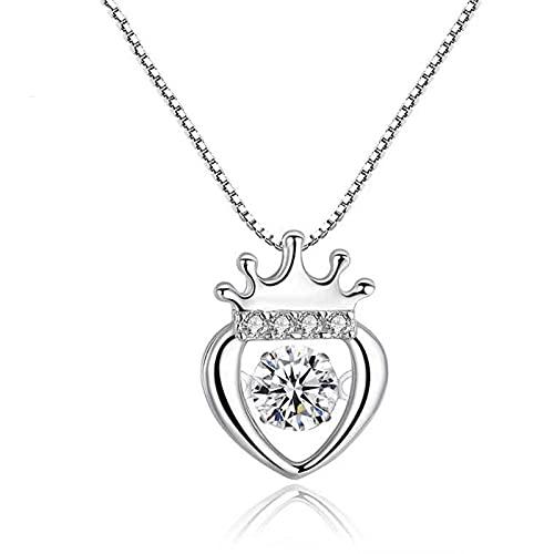 Collar de platino PT950 para mujer, colgante de diamante Moissan con corona de oro blanco de 18 quilates, es el regalo perfecto para la mujer amada