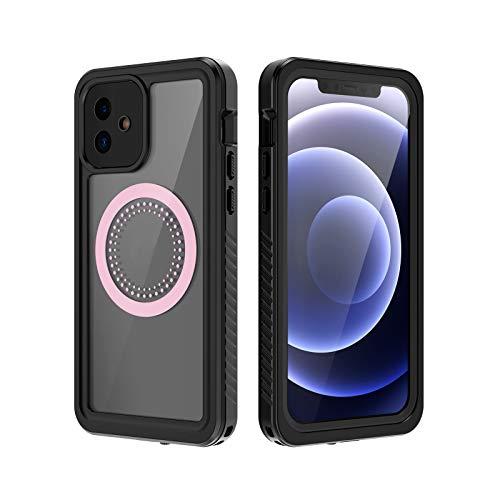 Compatible con iPhone 12 Mini/12/12Pro/12 Pro Max, funda magnética compatible con MagSafe, silicona suave TPU+PC cubierta híbrida de 5.4'/6.1'/6.7' (12)