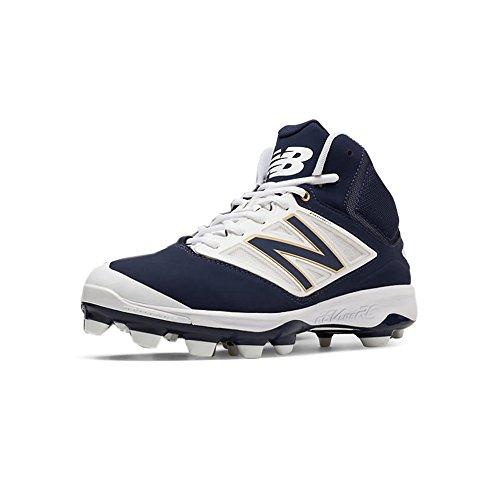 New Balance New Mens M4040NB3 Mid Metal Baseball Cleats Navy Blue White Sz 16 M