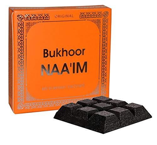 Bakhoor NAA'IM - Perfume de fresco, almizcle, pachuli, flor y madera; fabricado en UAE, ideal para uso en interior y exterior, incienso ambientador de aire, fácil de usar