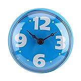 Pragmatic Reloj de Ducha, Impermeable, succión, Pared, Ventana, Espejo, baño, Ducha, Reloj, Accesorios de baño para rociador de Agua (Naranja, Azul, Verde)(Azul)