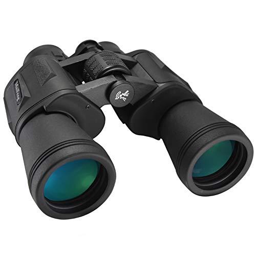 Zoom 20x50 Prismáticos de Alta Potencia para Observación de Aves Potentes Binoculares HD Duraderos para Excursiones de Fútbol Senderismo Caza