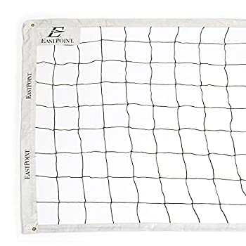 EastPoint Sports Replacement Volleyball Net with High Strength Cable Reinforced Side Tapes and Weather Resistant Material - Poles Not Included
