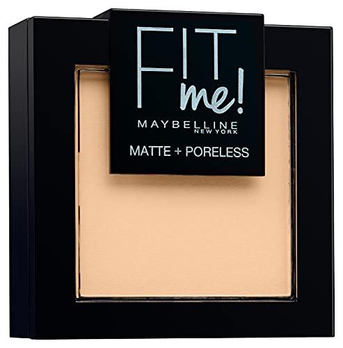 Maybelline New York Fit Me Matte&Poreless Cipria Opacizzante e Fissante, Pennello e Specchietto Inclusi, 104 Soft Ivory