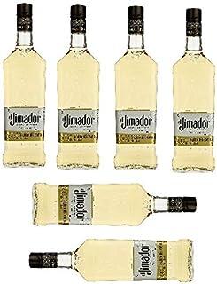 6 Flaschen Tequila el Jimador Reposado 100% Agave - 38% Vol. Zweifach destilliert/2 Monate Fassreife/Amerikanische Weißeiche Großpackung