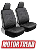 xterra 2003 seat covers - Motor Trend M244 Cross-Stitch PU Leather Faux Car Seat Covers, Front Only-Luxurious Protection for Auto Truck Van and SUV