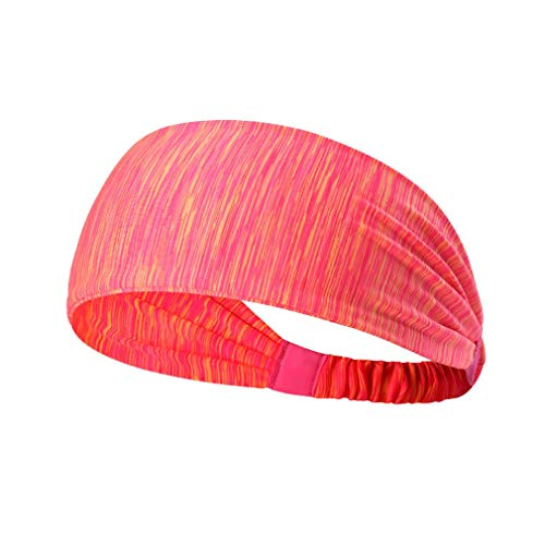 Dames Sport Yoga Haarband Anti-transpirant Tulband Sneldrogend Zweetband Haarband Running Fitness Hoofdband (streep rood)