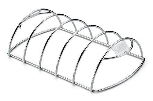 Weber 6605 Spare-Rib-Halter, Rippchen, passend für Q 200/2000 und größere Gasgrills sowie Holzkohlegrills ab 47 cm